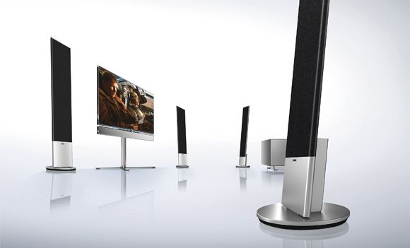 loewe individual sound stand sl cinema flat speaker. Black Bedroom Furniture Sets. Home Design Ideas