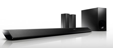 It S A Soundbar Accompanied Not Only By Subwoofer But Also Two Wireless Surround Speakers The Huge Success Of Soundbars Has
