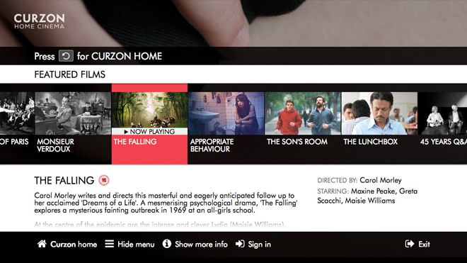 Curzon Home Cinema TV app